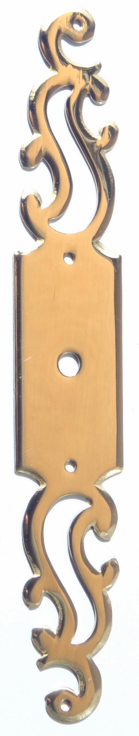 Entr e de cl rustique platine trou rond for Entree de cle pour meuble