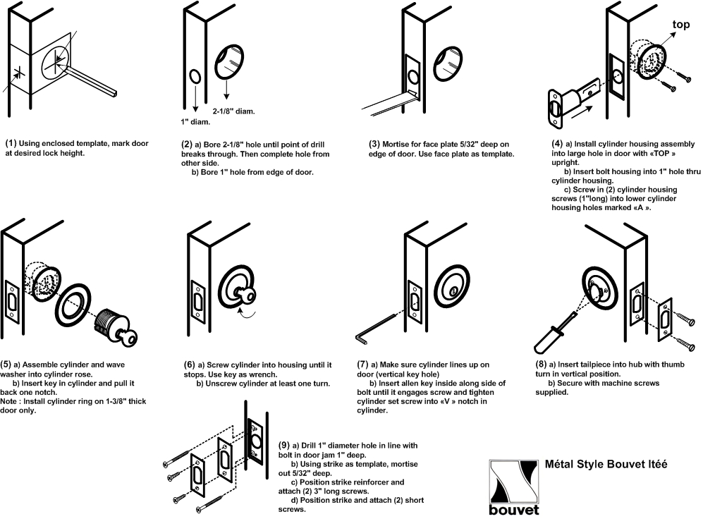 backset lock diagram