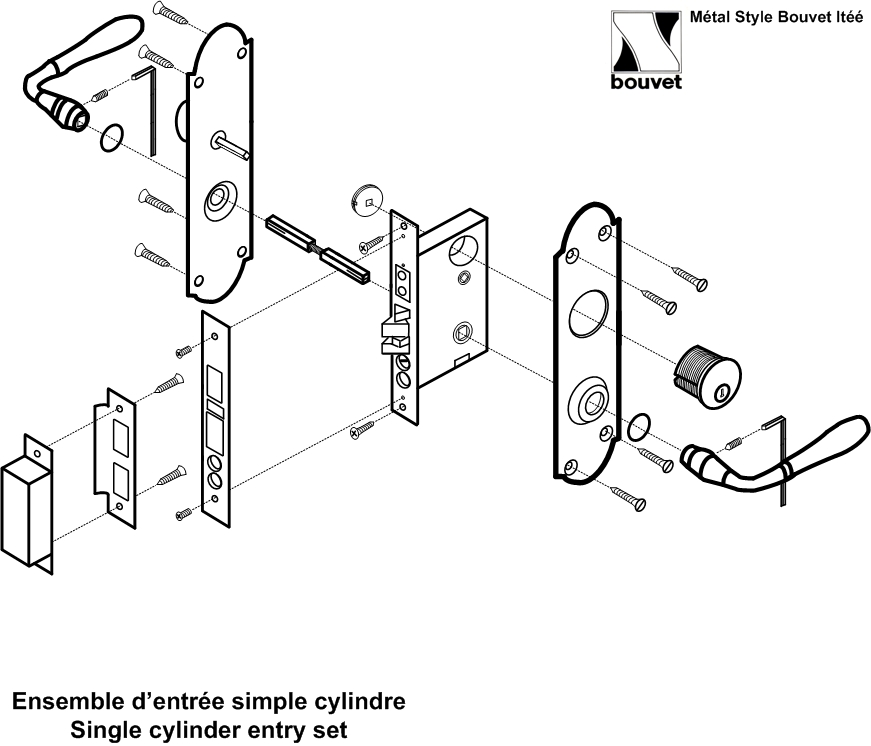 Lock Sets Complete With Lock Installation Diagrams